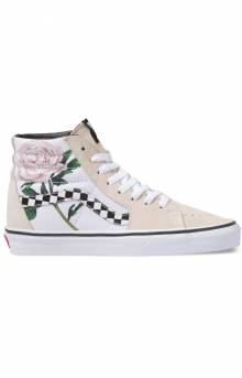 (8GEUPM) Checker Floral Sk8-Hi Shoe - Turtledove
