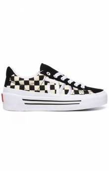 (BNF27I) Checkerboard Sid Ni Shoes - True White/Black