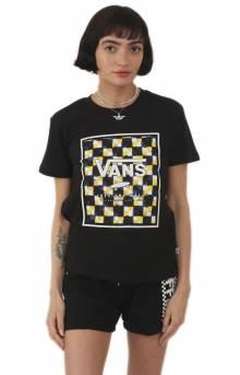 Boxed In Check T-Shirt - Black