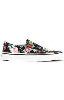 (BV3V8X) Garden Floral Classic Slip-On Shoe - Black/True White