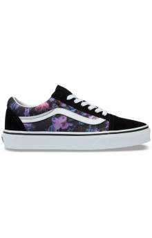 (BV5T7R) Warped Floral Old Skool Shoe - Black/True White