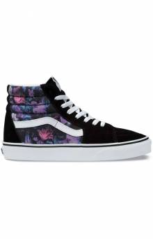 (BV6T7R) Warped Floral Sk8-Hi Shoe - Black/True White