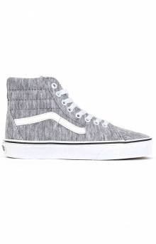 (BV6V7B) Rib Knit Sk8-Hi Shoe - Grey/True White