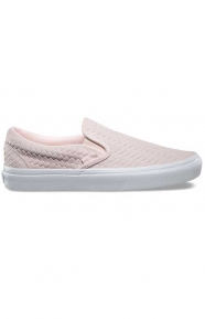 Embossed Woven Suede Classic Slip-On Shoe - Rosewater