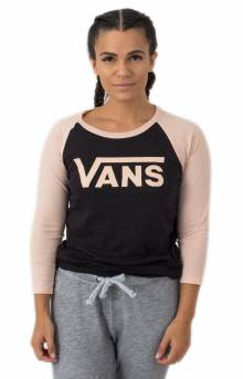 Flying V Raglan - Black/Rose Cloud