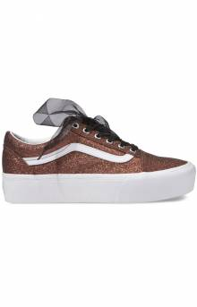 Glitter Old Skool Platform Shoe - Bronze