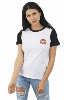 Make It Rainbow T-Shirt - White/Black