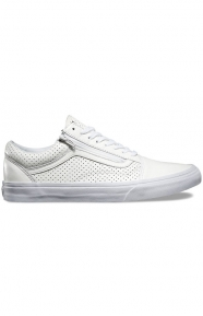 Vans Womens Clothing, Old Skool Zip Shoe - Perforated Leather White