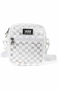 Street Ready Clear Crossbody Bag - White Checkerboard