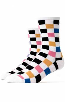 Ticker Multi Check Socks