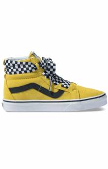 (TKLVL4) Check Wrap Sk8-Hi Alt Lace Shoe - Yellow