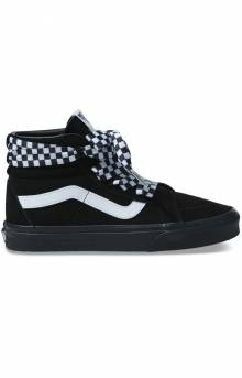 (TKLVL5) Check Wrap Sk8-Hi Alt Lace Shoe - Black