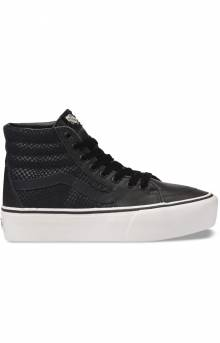(TKNUQF) Leather Sk8-Hi Platform 2.0 Shoe - Snake/Black