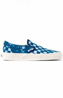 (U38WV8) Solar Floral Classic Slip-On Shoes - True Blue