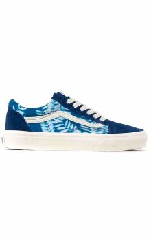 (U3BWV8) Solar Floral Old Skool Shoes - True Blue/Marshmallow