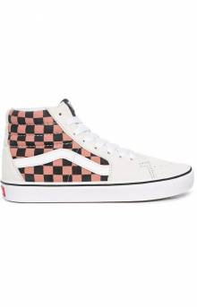 (WMB1PC) Mixed Media ComfyCush SK8-Hi Shoes - White/Multi