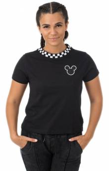 Checkerboard Mickey Mouse T-Shirt - Black