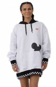 Checkerboard Mickey Pullover Hoodie - White