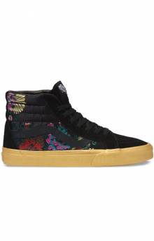 (XSBUQJ) Festival Satin Sk8-Hi Reissue Shoe - Black/Gold