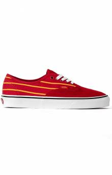(Z5IT7Q) Sport Stripes Authentic Shoe - Red/Yellow