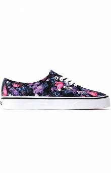 Vans, (Z5IT7R) Warped Floral Authentic Shoe - Black/True White