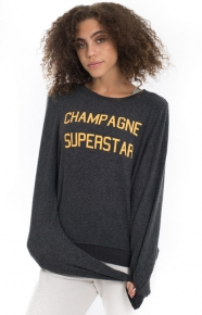 Wildfox Clothing, Champagne Superstar Baggy Beach Jumper