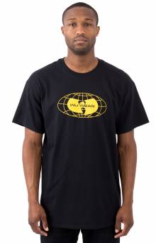 Globe Type Logo T-Shirt - Black