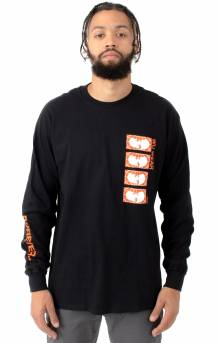 Stacked Logo The L/S Shirt - Black