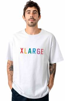 Color Embroidery T-Shirt - White