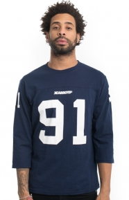 X-Large x Carrots Clothing, Football T-Shirt - Navy