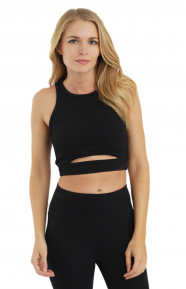 Cut Out Thermal Bra - Black