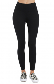 High Waist Thermal Leggings - Black