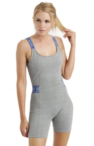 Open Back Onsie - Grey