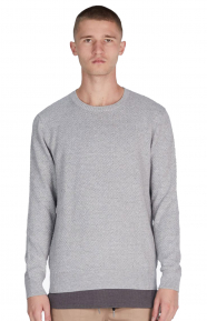 Grip Knit Crewneck - Grey Marle