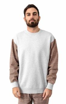 Media Crewneck - Silver Marle/Timber