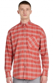 Rugger Button-Up Shirt - Red/Grey Marle