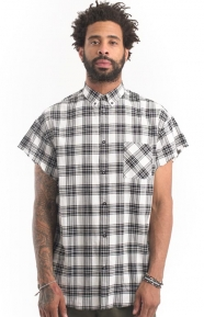 Rugger Cut Sleeve Shirt - White/Black