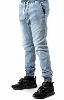 Sureshot Denim Joggers - Mid Blue
